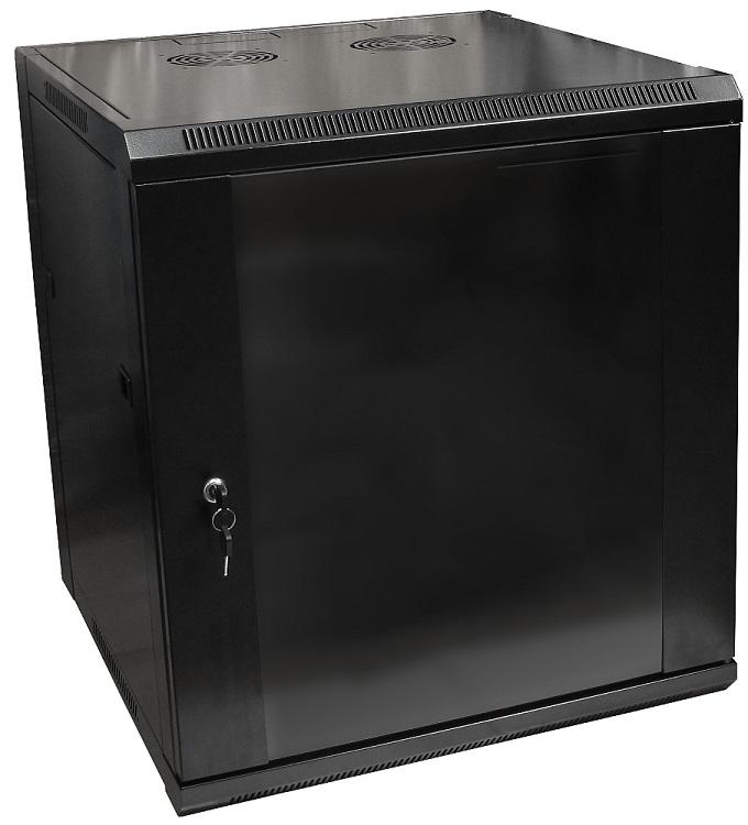 Armário Bastidor p/ Pendurar 19 12U (600mm) com Porta Vidro - ProFTC
