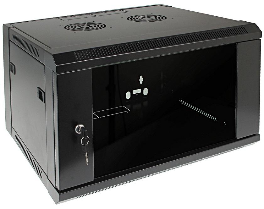 Armário Bastidor p/ Pendurar 19 6U (450mm) com Porta Vidro - ProFTC