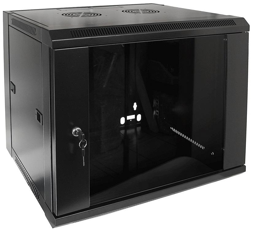 Armário Bastidor p/ Pendurar 19 9U (450mm) com Porta Vidro - ProFTC