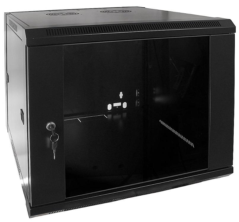 Armário Bastidor p/ Pendurar 19 9U (600mm) com Porta Vidro - ProFTC