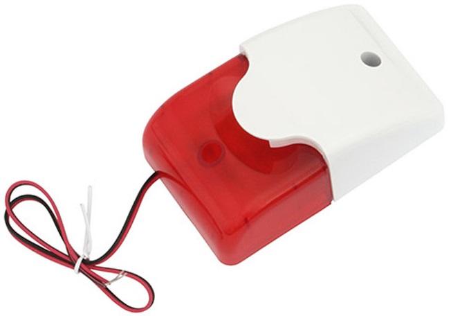 Sirene com Strobe LED Vermelho (109dB) - ProFTC
