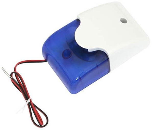 Sirene com Strobe LED Azul (109dB) - ProFTC