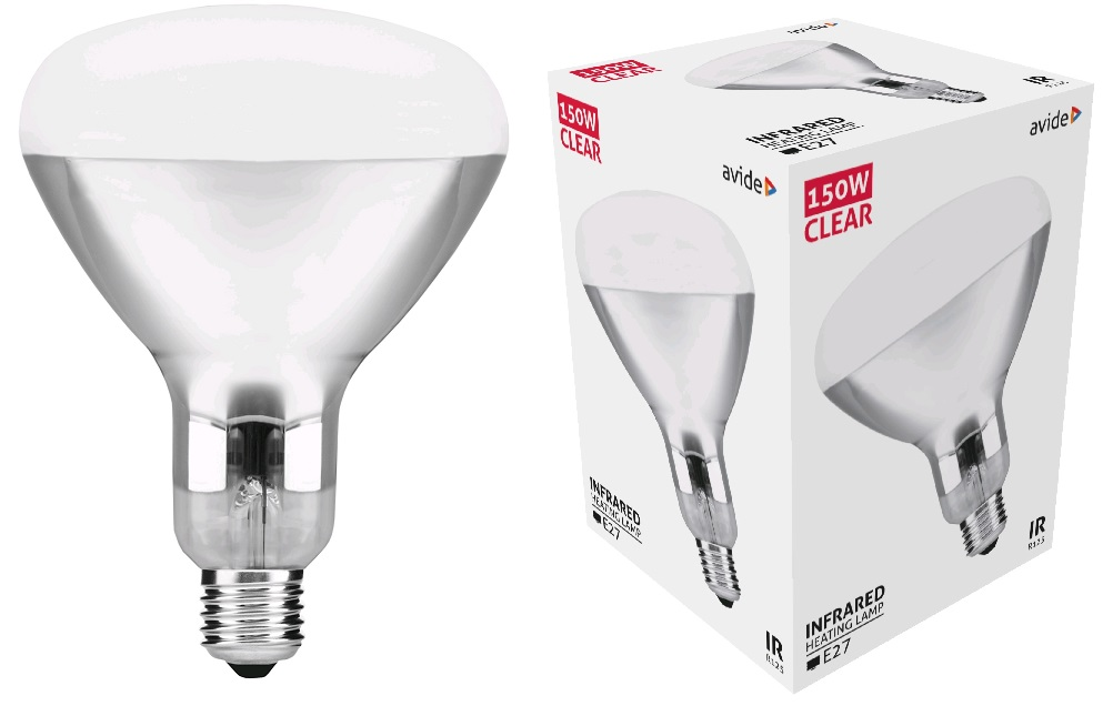 Lampada Infra. Aquecimento R125 150W - AVIDE