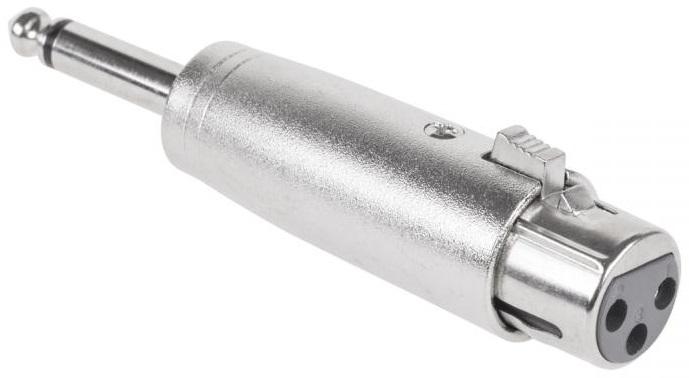 Ficha Adaptadora Canon Femea - Jack 6,5mm Macho Mono