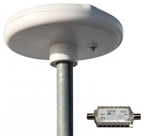Antena Omni-Direccional TDT HD UHF, FM e VHF + Filtro LTE 782MHz - DAXIS