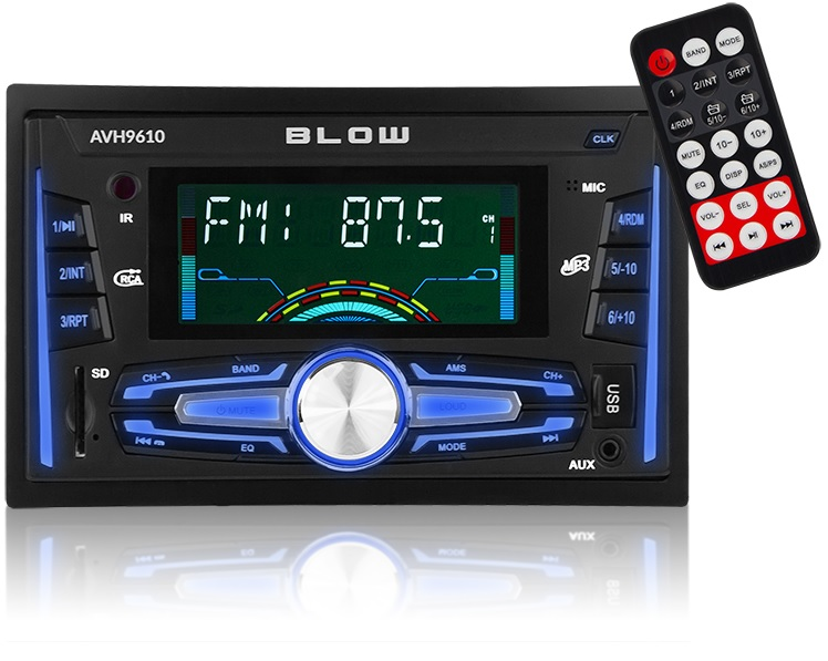 Auto Rádio 7 2DIN 4x 50W FM/BLUETOOTH/MP3/SD/USB/AUX - BLOW