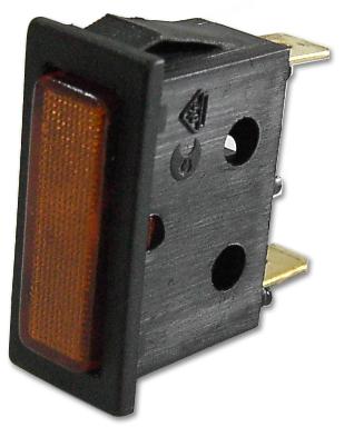 Avisador Retangular Laranja 220V