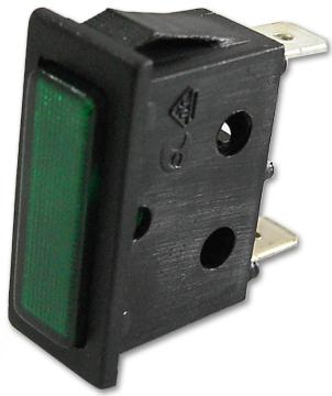Avisador Retangular Verde 220V