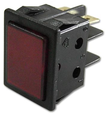 Avisador Quadrado Vermelho 220V