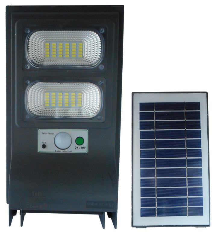 Projector LED 20W Branco F. 6000K 2000Lm a Bateria Solar c/ Sensor Mov./Crepuscular/Comando IP65