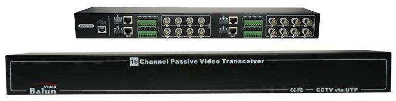 Transmissor/Receptor 16 Camaras CCTV por Cabo UTP RJ45 (Optimizado para HDTVI / HDCVI / AHD)