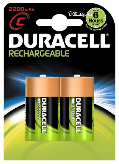 Blister 2 Pilhas Recarregáveis 1,2V 3000mAh Ni-Mh - C / R14 - DURACELL
