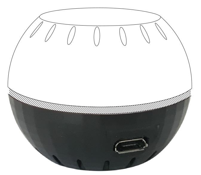 Base c/ Alimentação USB p/ Monitorizador Ambiental Shelly H&T