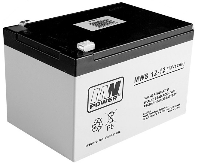 Bateria Chumbo 12V 12Ah  (151 x 99 x 95 mm) - MW POWER