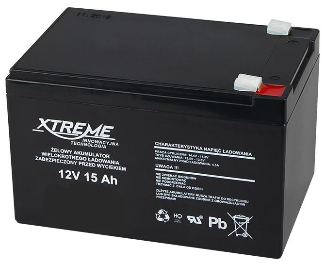 Bateria Chumbo 12V 15Ah (151 x 98 x 95 mm) - XTREME