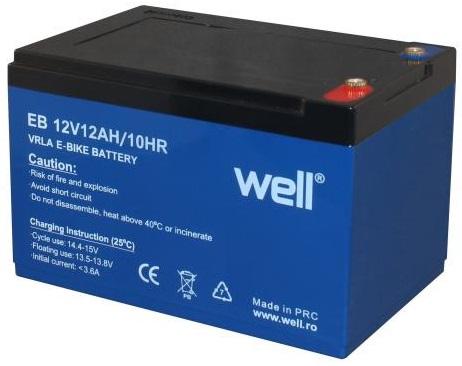 Bateria de Chumbo 12V 12Ah (151 x 99 x 95 mm) p/ Motas Electricas - WELL