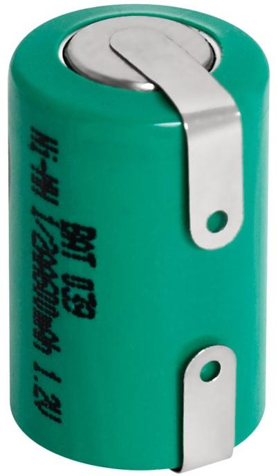 Bateria 1/2AA 2/3AA NI-MH 1,2V 650mA c/ Patilhas - NIMO