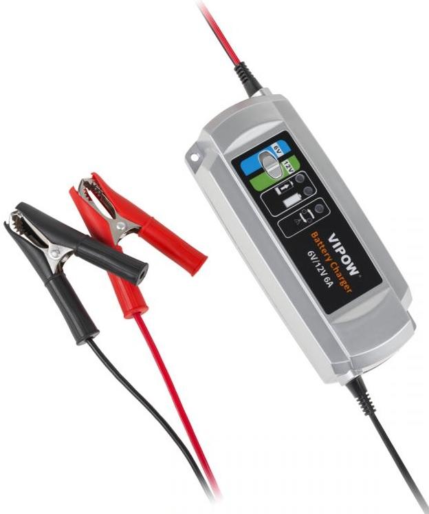 Carregador de Baterias 6/12V (6A) - VIPOW