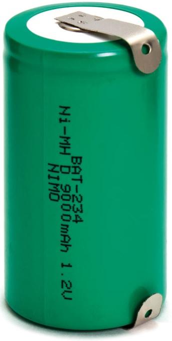 Pilha Acumuladora R20/D 1,2V 9000mAh NI-MH Recarregável