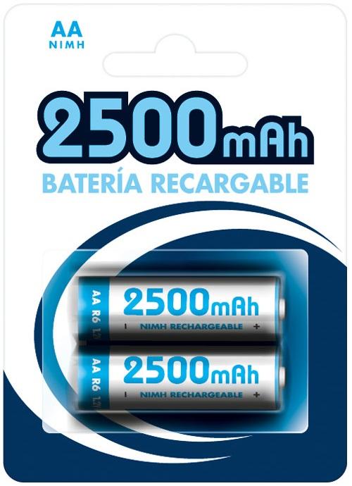 Blister 2 Pilhas Recarregáveis 1,2V 2500mAh Ni-Mh - AA