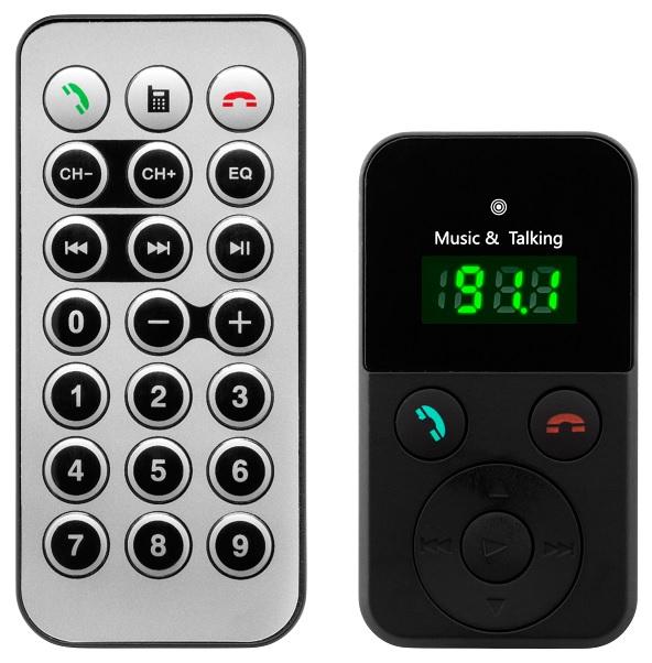 Kit Mãos Livres Bluetooth c/ Reprodução Musica MP3/USB/SD - ProFTC