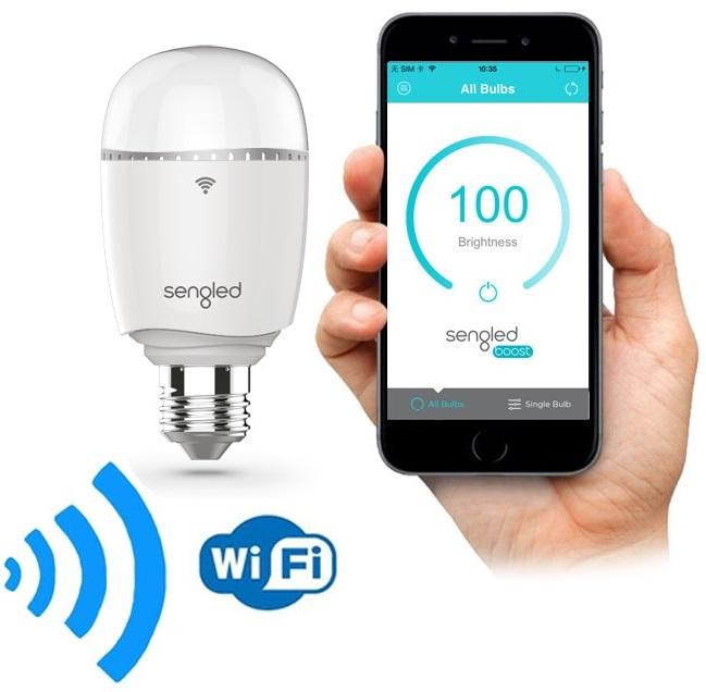 Lampada LED E27 6W Branco Q. 3000K 470Lm c/ Repetidor de Rede WiFi - SENGLED