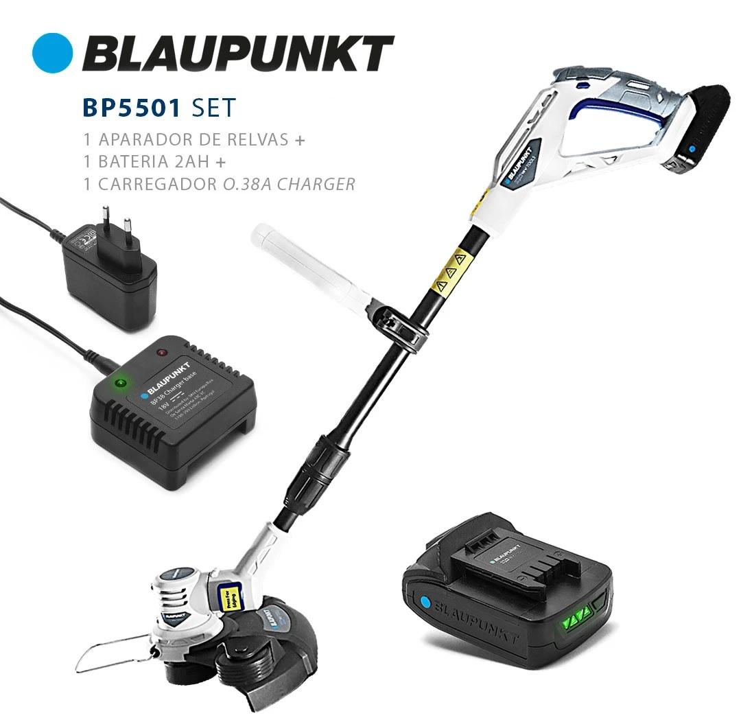 Aparador de Relva s/ Fios 7200RPM 25~30cm a Bateria 18V DNA + Bateria + Carregador - BLAUPUNKT