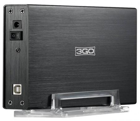 Caixa Externa p/ Discos Rigidos 3,5 SATA + IDE USB2.0 - 3GO