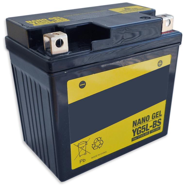 Bateria GEL p/ Mota 12V 5Ah (YG5L-B) - ProFTC