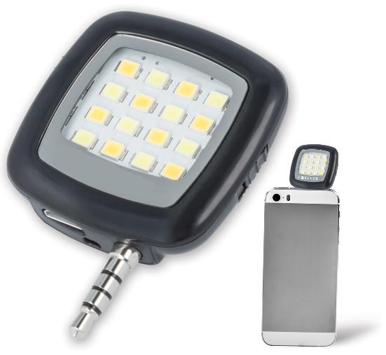 Flash LEDs Selfies por Jack 3,5mm (16 LEDs) p/ Smartphones