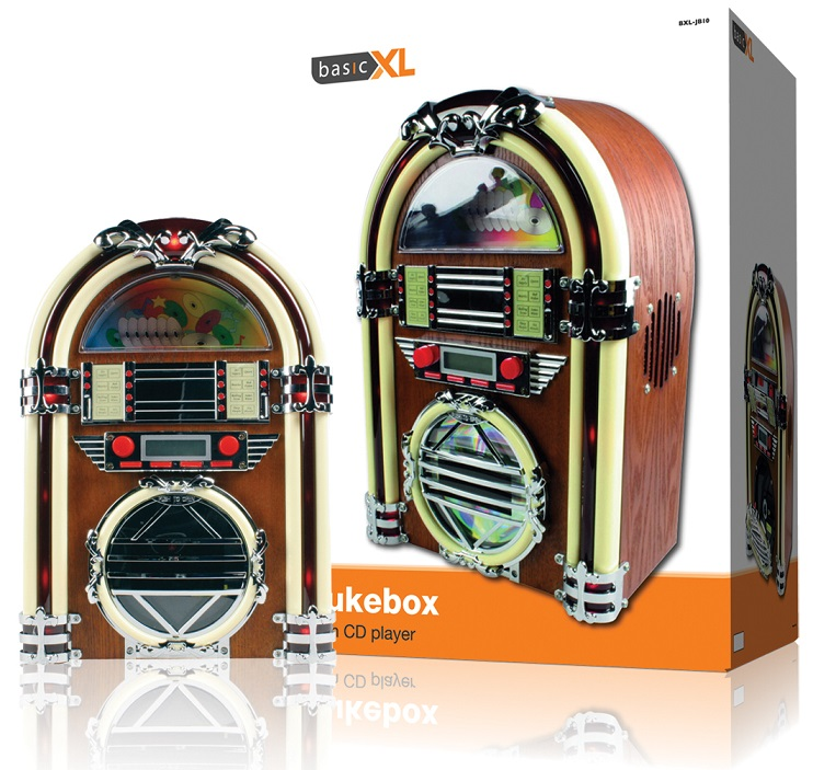 Jukebox 2x 2W AM/FM c/ Leitor CD - basicXL