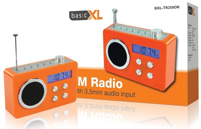 Rádio Digital FM Portátil (Laranja) - basicXL