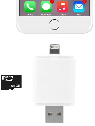 Leitor Cartões 2 em 1 (USB e Iphone Lightning USB) - ProFTC