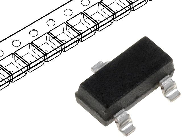 Diodo Zener SMD 0,3W 6,2V (SOT23)