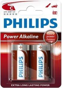 Blister 2 Pilhas Alcalinas 1,5V C / LR14 - PHILIPS