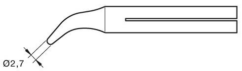 Ponta Curva Longa Duração 2,7mm p/ Ferro Soldar JBC