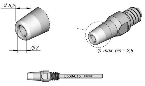 Bico Dessoldar p/ Dessoldador DR560 (5,2 x 3mm) - JBC