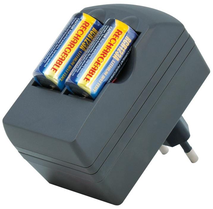 Carregador de Baterias Litio com 2 Pilhas CR123