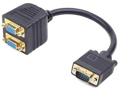 Repartidor VGA Macho -> 2 VGA Femea - GEMBIRD