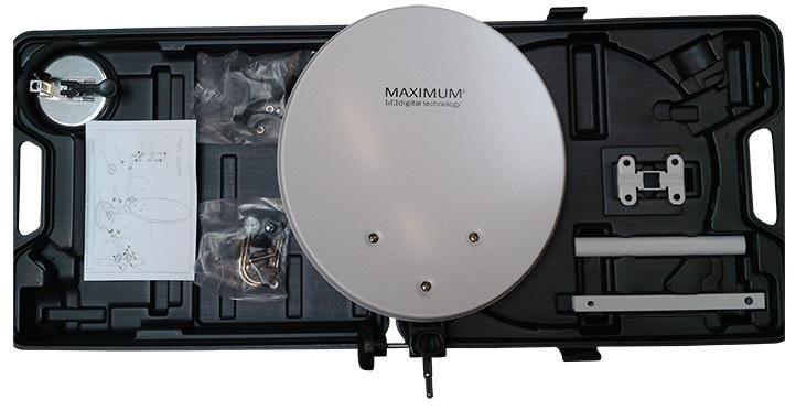 Mala Parabólica Amovível (35cm) c/ Ventosa (Mala Transporte Incluída) - MAXIMUM