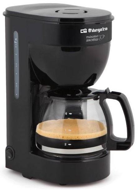 Máquina Café Filtro 600W (6 Chavenas) Preto - ORBEGOZO