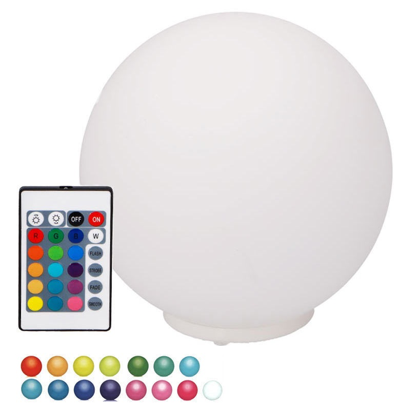 Bola de LEDs RGB Ambiente Ø20cm c/ Comando à Distância - GRUNDIG