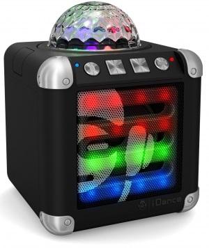 Coluna Portátil Bluetooth c/ Efeitos de LED (Preto) - iDance