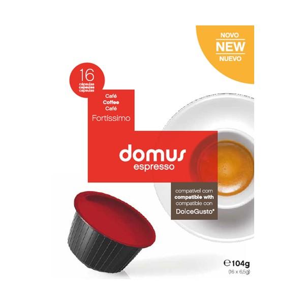 Cápsulas Dolce Gusto Domus Espresso (16 Unidades) Fortissimo