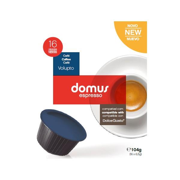 Cápsulas Dolce Gusto Domus Espresso (16 Unidades) Volupto
