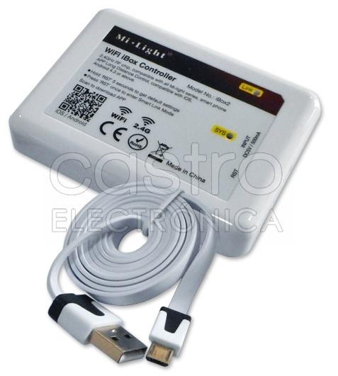 Controlador RGB/RGB+W 12/24VDC WiFi (Android e iOS) - ProFTC