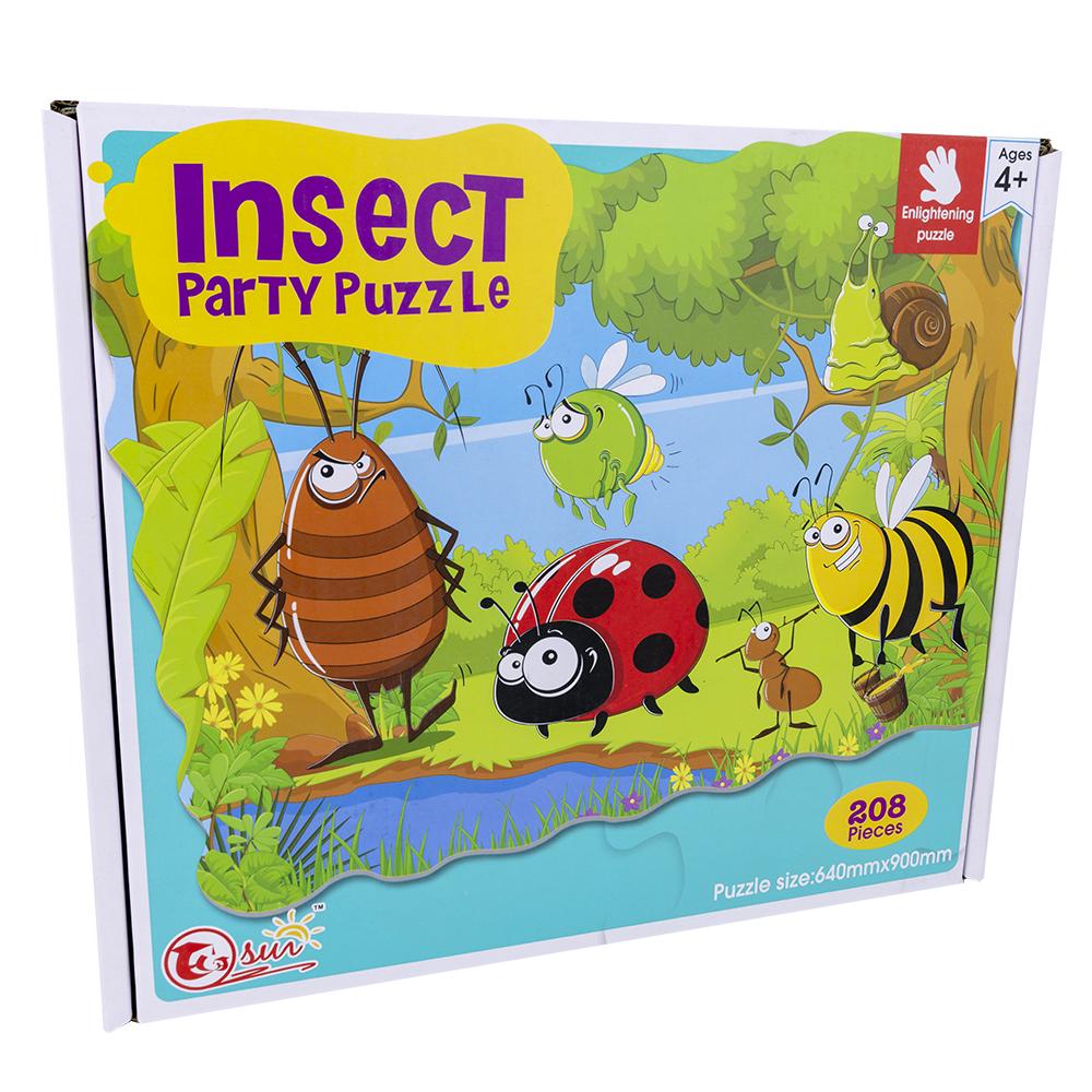 Puzzle Insect Party (208 Peças) - ProFTC