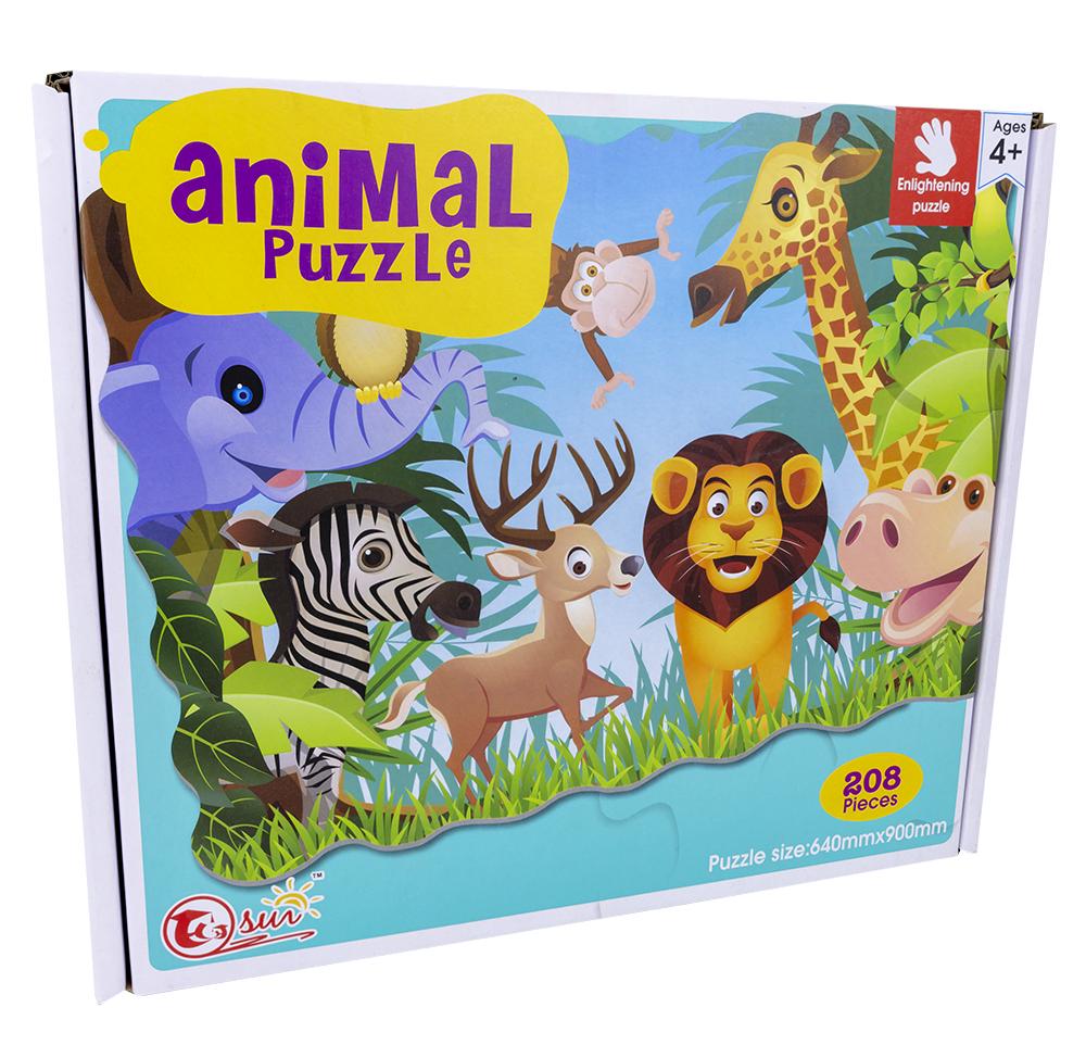 Puzzle Animal (208 Peças) - ProFTC