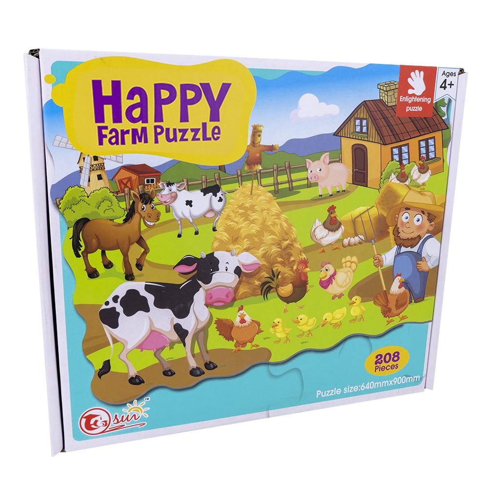 Puzzle Happy Farm (208 Peças) - ProFTC