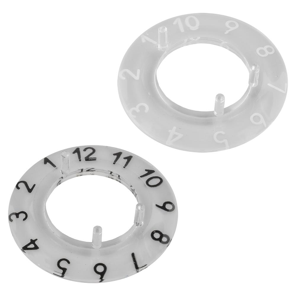 Indicador p/ Botão 21mm (Transparente-Branco) - 0-9 Digitos